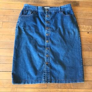 Christopher and Banks, Jean  denim skirt, size 10